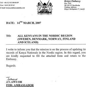 Kenya embassy collecting personal information of wakenya kenya embassy letter embassy form thecheapjerseys Images