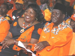 Ida and Raila At A Campaign Rally