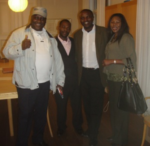 Some Kenyans at after the function