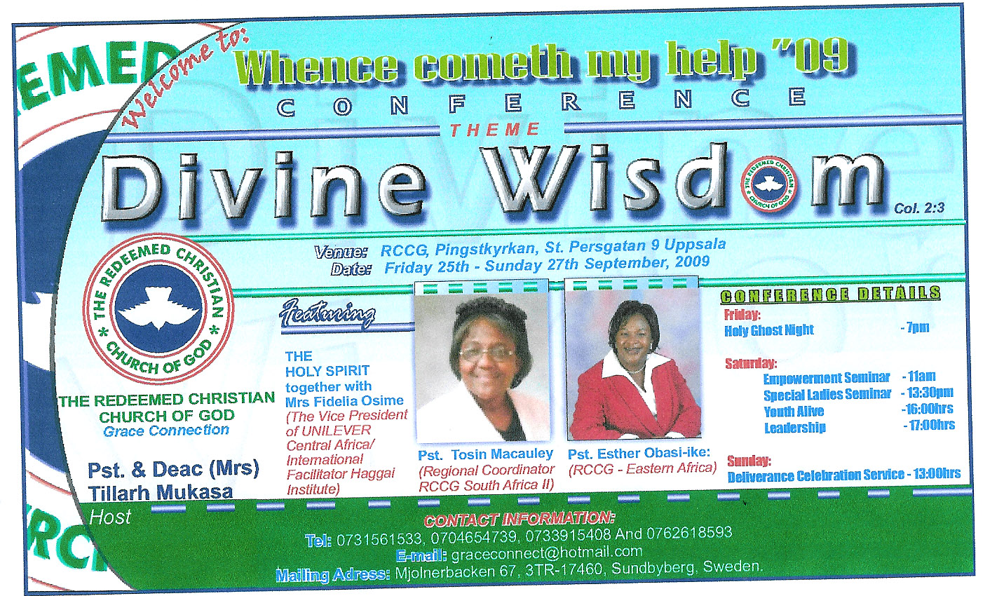 Invitation to christian conference by pastor tillarh kenya conference poster stopboris Image collections