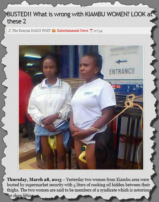 Kiambu Women Thieves: Is The Kenya Daily Post Anti-Kikuyu?