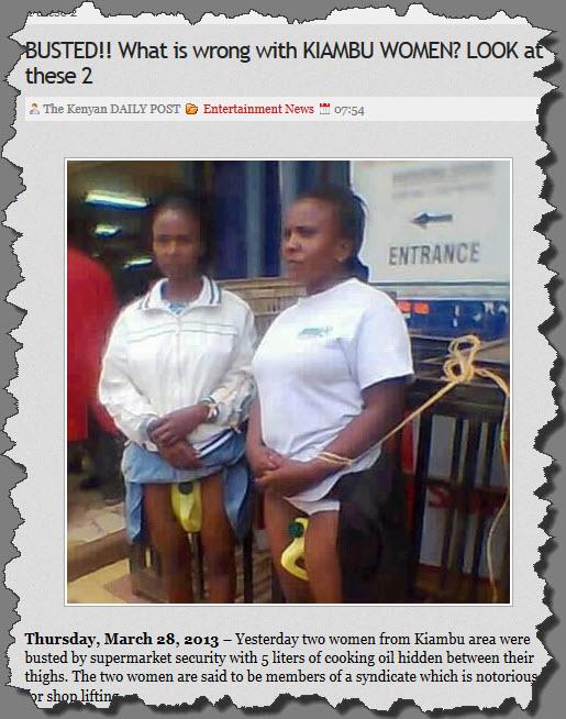 Kiambu Women Thieves: Is The Kenya Daily Post Anti-Kikuyu?