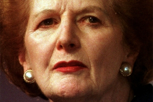 "To cheers of ""Maggie Maggie Maggie, dead dead dead,"" posters of Thatcher were held aloft as reggae basslines pounded."