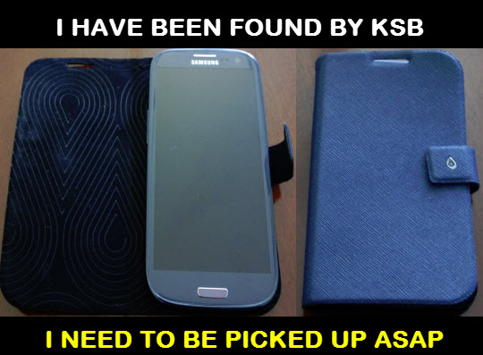This phone was recovered yesterday at Nyama Choma in Fittja beach. If you recognize it to be your, get in touch with KSB headquarters as soon as possible.
