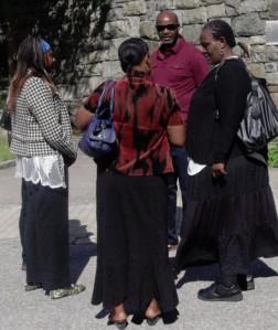 mourners at osumba memorial