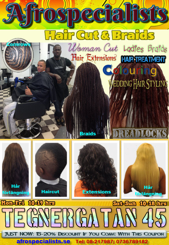 Summer Hair Cut Discount From Stockholms Afrospecialists Kenya