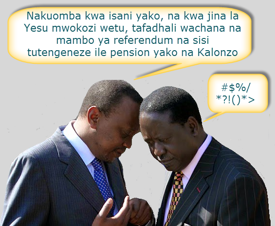 raila and uhuru talk
