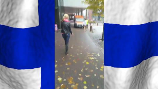 racist finnish woman