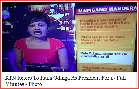 ktn and raila as president