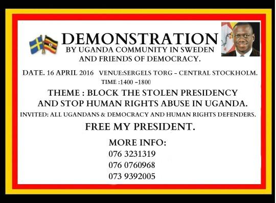 anti museveni demo