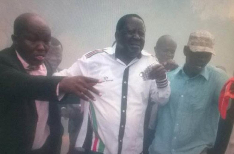 raila tear gassed