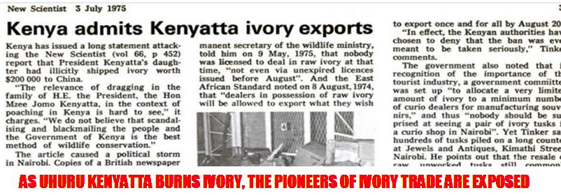 AAKENYATTA IVORY EXPORTS