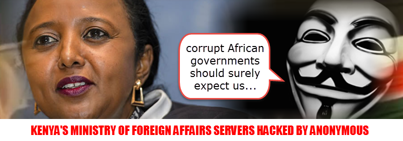 ANONYMOUS HACKS KENYA